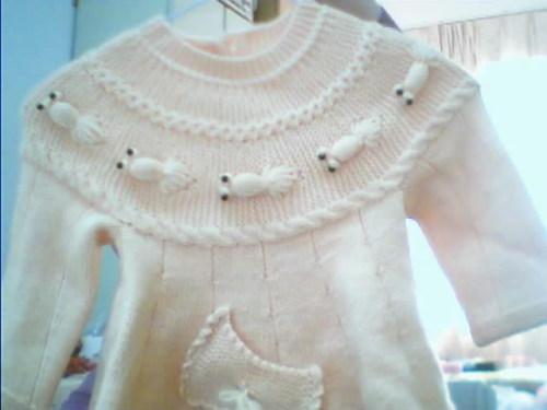 手工织儿童金鱼毛衣